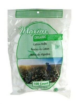 Maxim Hygiene Products Organic Cotton Balls 100 Count (Pack Of 3)