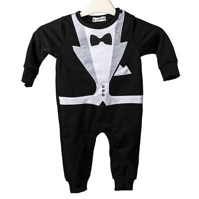 Baby Tuxedo Suit Party Outfit Rompers 70-95CM