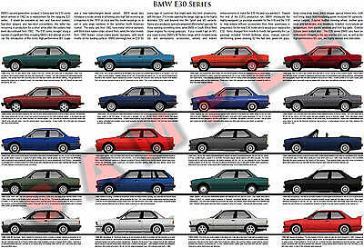BMW posters - E30, E31, E24, New Class, Turbo, 8 Series, 6 Series, M3