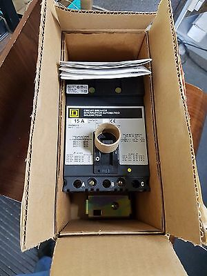 SQUARE D FH36015 3 POLE 15 AMP 600v CIRCUIT BREAKER **NEW**