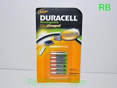 6 Piles rechargeable Duracell AAA NiMH Faible Auto Décharge v2