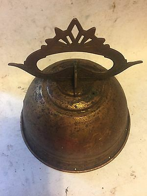 """Rare Old 5 3/8"""" Arts Craft Deco Victorian Brass Ceiling Light Chandelier Canopy"""