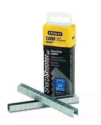 """Stanley Sharpshooter Heavy Duty TRA706T Staples 3/8"""" 10mm, 1000 Count Pack"""
