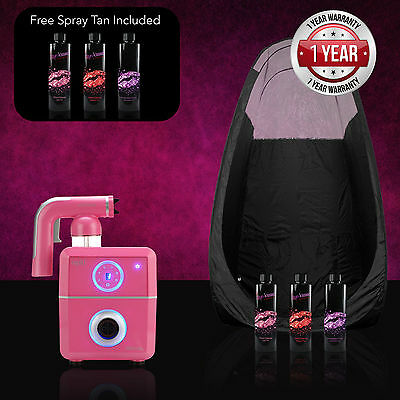 Tanning Essentials Pink Rapid Spray Tan Complete Kit + FREE Funkissed Solutions
