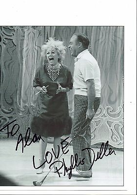 Phyllis Diller with Bob Hope Hand Signed  Photograph 10 x 8