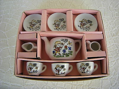 Vintage Boxed 9 Piece Childrens Tea Set Made in Japan