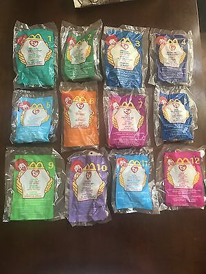 d190f1275ba McDonald s Ty Teenie Beanie Babies 1999 Lot w  Original Happy Meal Bag