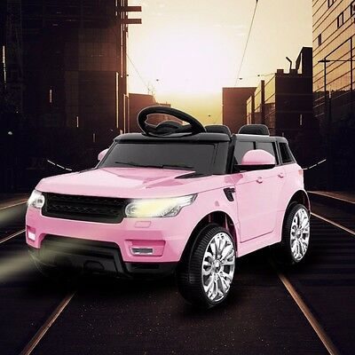 Kids Range Rover Sport Style Electric Childs 12V Battery Ride On Jeep Car-Pink