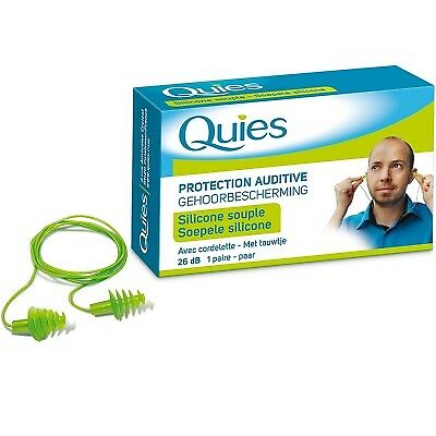 QUIES Protection Auditive avec Cordelette Silicone Souple - 26dB - 1 paire