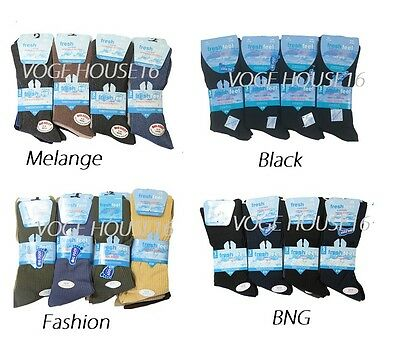 12 Pairs MENS BIG FOOT NON ELASTIC DIABETIC EVERYDAY GRIP GENTLE TOP SOCKS 11-14