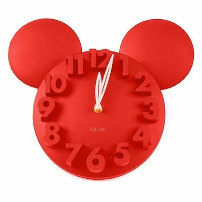UK -Modern Style Home Decor Decoration Mickey Mouse Big Digit 3D Wall Clock RED