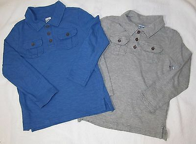 Old Navy Boys Sz 5T Lot Of 2  Long Sleeve Polo Shirts Tops 5 Yrs