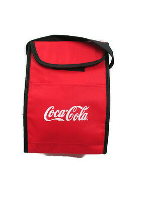 Coca-Cola Lunch Bag with Hook & Loop Closure  -  Free shipping