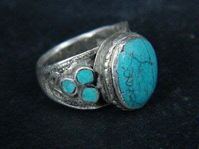 Antique Silver Ring With Stones 1900 AD #STC515