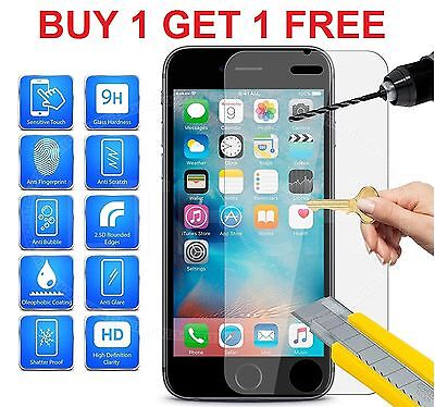100% GENUINE TEMPERED GLASS FILM SCREEN PROTECTOR FOR APPLE IPHONE 7, 6s ,6 - NE