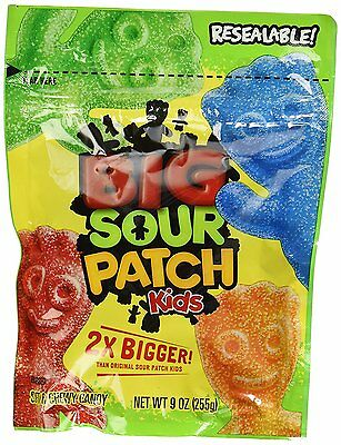 New Sealed Sour Patch Kids 2Xbigger 9 Oz Bag Free Worlwide Shipping