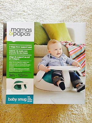New In Box- ORIGINAL Mamas Papas Baby Snug and Activity Tray (Teal) Top Quality
