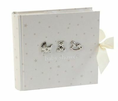 "Bambino Baby Shower Photo Album with Icons & Diamantes - for 6""x 4"" Photos"