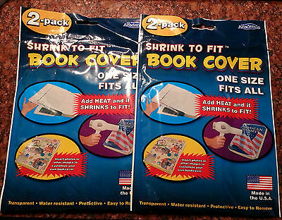 It's Academic SHRINK TO FIT Book Cover - 4 Total - ONE SIZE FITS ALL - Uses Heat