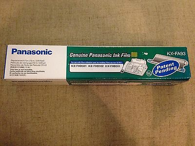 Genuine Panasonic KX-FA93 Replacement Ink Film For Kx-Fhd331 Fhd332 Fhd351 New