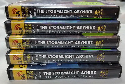 (5) NEW Graphic Audio Books COMPLETE~The Stormlight Archive by Brandon Sanderson
