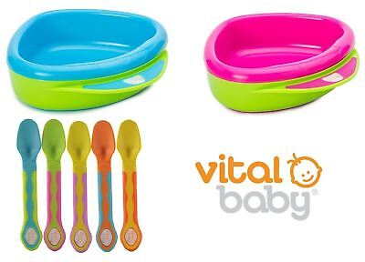 Vital Baby Warm-a-Bowl Baby Feeding Bowl and Spoons