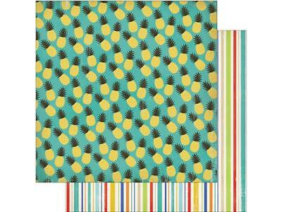 Carta Bella Beach Day Paper 12x12 Pineapple Parads