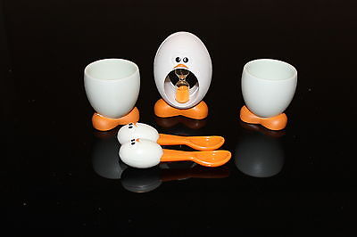 Eggy Egg Timer & Kids Egg cups  with spoons