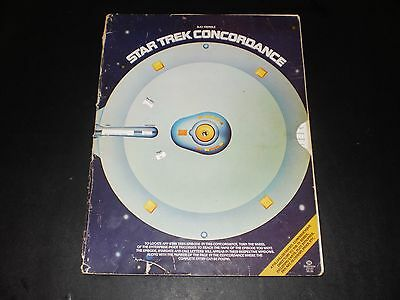Star Trek Concordance Book First Edition Paramount Pictures 1976