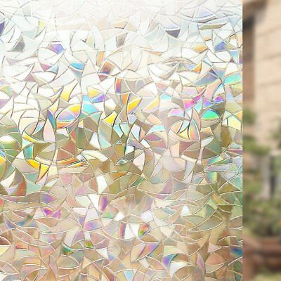 Beautiful Faux Stained Glass Window Cling Film No Glue Static Decorative Privacy