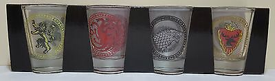 Game of Thrones Set of 4 House Sigil Shot Glass Brand New