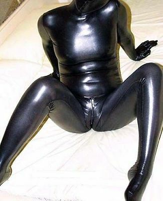 Full Covered Satin Zentai Spandex With Latex Suit EF H792B