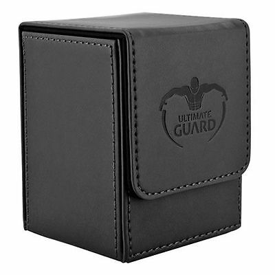 Ultimate Guard Leatherette Flip Deck Case Box 100+ Cards - Black - Free Shipping