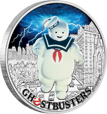 2017 Ghostbusters - Stay Puft 1oz Silver Coin