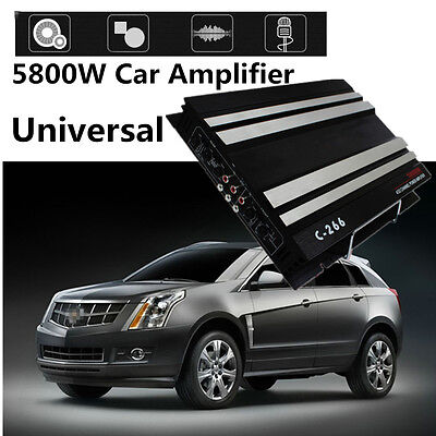 5800W Powerful Car Stereo Amplifier Power Audio Tune HPF RMS 4/3/2 Channel 4Ohm