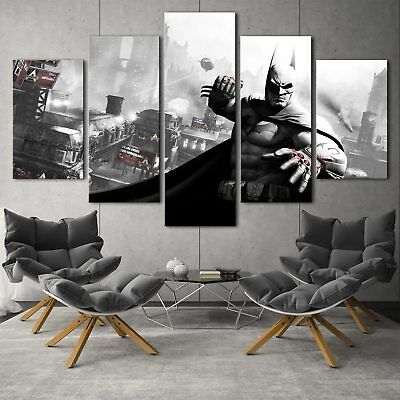 Arkham city batman 5PCS HD Canvas Print Home Decor Picture Wall Art Painting