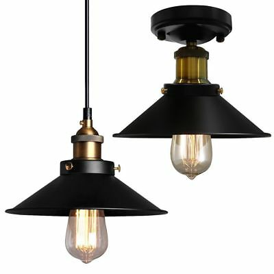 Industrial Hanging Ceiling Edison Light Semi Flush Mount Pendant Lamp Fixture US
