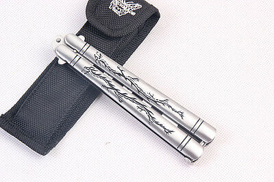 Balisong Style Butterfly Knife Stainless Steel Metal Trainer Comb Cool Practice