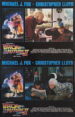 "Back To The Future Part 2 1989 U.S Lobby Card Set of 8 Cards 11"" x 14"""