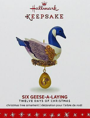 2016 Hallmark Ornament SIX GEESE-A-LAYING Twelve Days of Christmas Series 6th