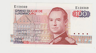 1980 Luxembourg 100 Francs Pick 57 Banknotes Around The World Unc