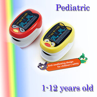Pediatric Pulse oximeter for Child Kids 1-12 years Old SPO2 Blood Oxygen Monitor