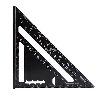 Metric Aluminum Alloy Speed Square Roofing Triangle Set Square Angle Protractor