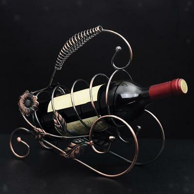 Wire Red Wine Rack Holder Champagne Bottle Bracket Storage Shelf Bronze