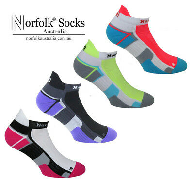 "6 Pairs Norfolk Women's Running, Ankle Socks, Cushioned - ""Joyner"" SUPER SALE !"