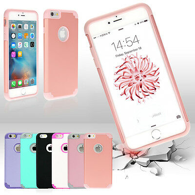 """Protective Hybrid Shockproof Soft Case Cover For Apple iPhone 7 6S 4.7/5.5"""" Plus"""