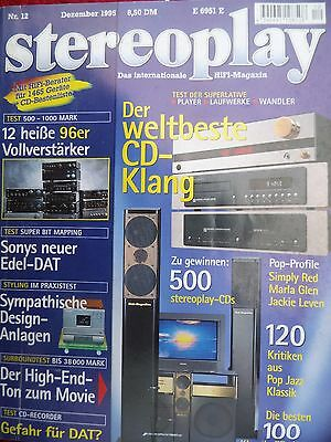 Stereoplay 12/95 Sony Dtc Za 5Es,cubic M1,sonic Frontiers Sft 1,sfd 2 Mk2,teac P