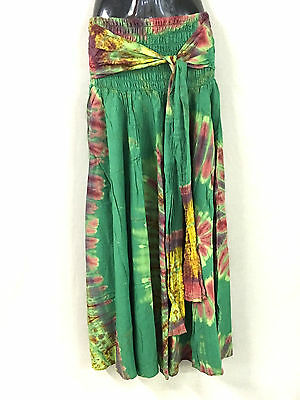 5 rayon dress/skirt.Wear 3 ways.Lovely tie dye colors.Stock up for summer.New.