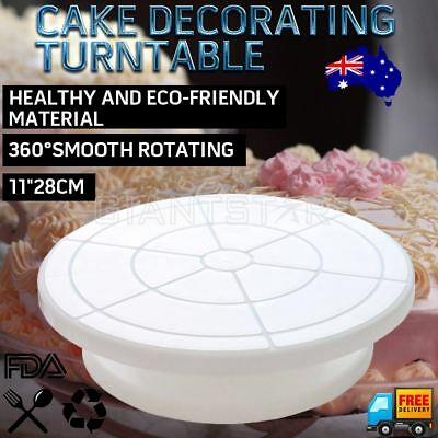 11'' 28cm Cake Making Stand Turntable Platform Rotating Revolving Decorating AU