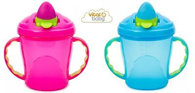 Vital Baby Soft Flip Spout Sippy Cup - Pink or Blue, Choose Quantity